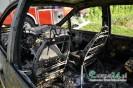Groźnie wyglądający pożar samochodu