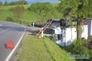 Dachowanie ciężarówki w Łużnej! (TV)