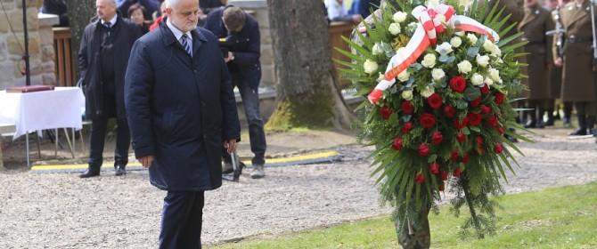 Wojewoda Pilch odsłonił Znak Dziedzictwa Europejskiego na Cmentarzu wojennym nr 123 Łużna-Pustki