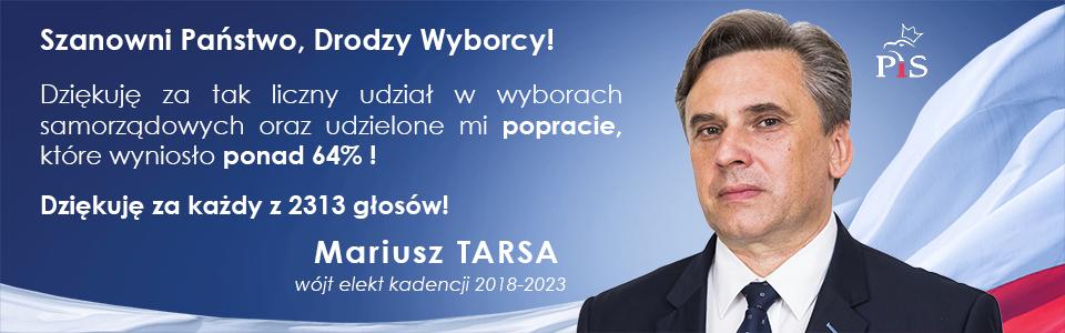 Mariusz Tarsa wójt elekt Gminy Łużna